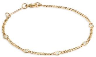 Zoë Chicco 14K Yellow Gold & Diamond Curb Chain Bracelet