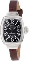 Glam Rock Women's Miami Beach Art Deco Black Dial Brown Genuine Leather