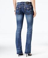 Miss Me Stitched Dark Blue Wash Bootcut Jeans