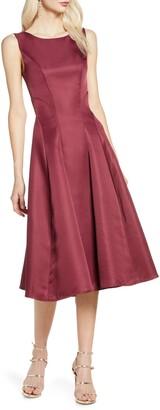 Chi Chi London Bracken Satin Fit & Flare Cocktail Dress
