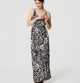 LOFT Sunwashed Floral Maxi Dress