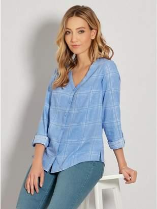 M&Co Check linen shirt
