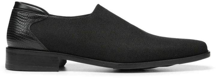 Donald J Pliner REX, Canvas Stretch and Croco Lux Leather Loafer