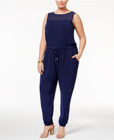 MICHAEL Michael Kors Size Illusion Straight-Leg Jumpsuit