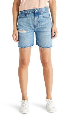 ÉTICA Skylar Distressed Boyfriend Denim Shorts