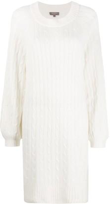 N.Peal Long Sleeve Chunky Knit Dress