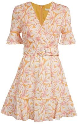 Jonathan Simkhai Zoey Floral Ruffled Midi Dress