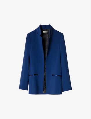Zadig & Voltaire Volly satin-trim crepe blazer