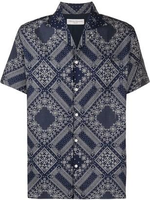 Officine Generale Geometric-Print Short-Sleeved Shirt