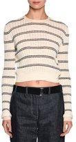 Giorgio Armani Striped Crewneck Sweater, Off White