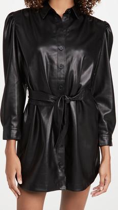 BB Dakota Faux Nelly Belted Vegan Leather Dress