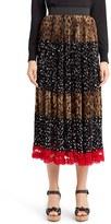 Dolce & Gabbana Women's Leopard & Dot Print Skirt