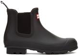 Hunter Men's Original Dark Sole Chelsea Boots Black