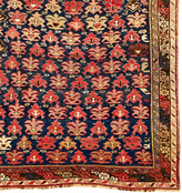 Rejuvenation Armenian Kilim w/ Sumak Field Pattern