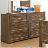 Logan 6 Drawer Double Dresser My Home Furnishings