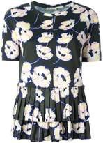 Marni Whisper print pleated T-shirt