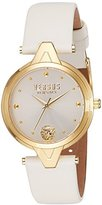 Versus By Versace Women's 'V' Quartz Stainless Steel and Leather Casual Watch, Color:White (Model: SCI120016)