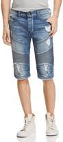 True Religion Geno Moto Straight Fit Cutoff Shorts in Worn Flagstone