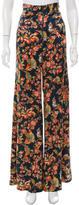 Zac Posen Floral Print Wide-Leg Pants
