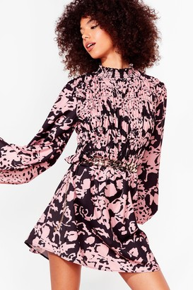 Nasty Gal Womens Ever Fallen in Love Floral Mini Dress - Pink