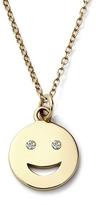 Alison Lou 14K Medium Diamond Happy Face Necklace