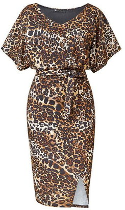Mela London Leopard Printed Bodycon Dress