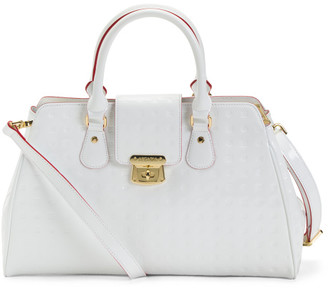 Made In Italy Patent Leather Tab Satchel