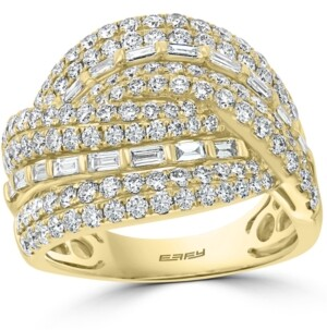 Effy Diamond Baguette Crossover Statement Ring (1-7/8 ct. t.w.) in 14k Gold