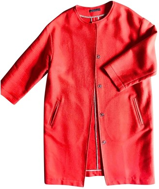 Laura Urbinati Red Cotton Coat for Women