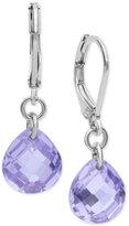 lonna & lilly Silver-Tone Purple Cubic Zirconia Drop Earrings
