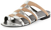 Pierre Hardy Parade Bicolor Toe-Ring Mule Sandal, Nude/Silver