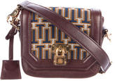 Tory Burch Leather-Trimmed Woven Crossbody