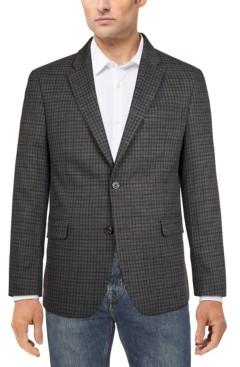 Tommy Hilfiger Men's Modern-Fit Gray/Navy Check Sport Coat