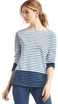 Stripe colorblock long sleeve tee