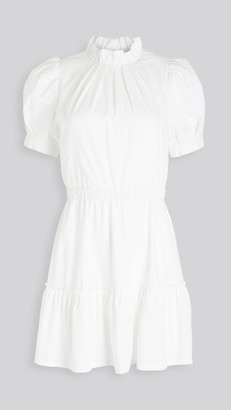 Alice + Olivia Vida Puff Sleeve Tiered Ruffle Dress