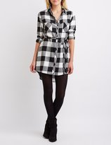 Charlotte Russe Buffalo Check Shirt Dress