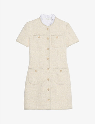 Sandro Taly ruffled-collar mini dress