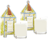 Seda France Asian Lychee Pagoda Candles (10 OZ) (Set of 2)