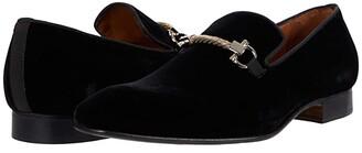 Massimo Matteo Formal Bit Loafer (Black Velvet) Men's Shoes