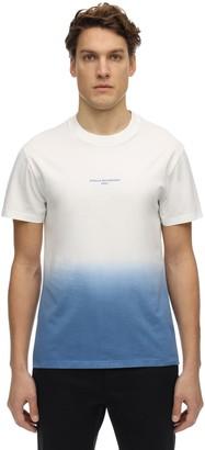 Stella McCartney Logo Degrade Print Cotton Jersey T-Shirt