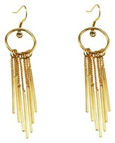 Round Ring With Ross Drop And Stick Fringe Drop