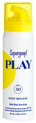 Supergoop! Play Blue Sea Kale SPF 50 Body Mousse