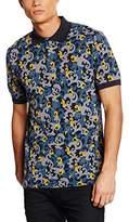 Pretty Green Men's Riley Aop Print Short Sleeve Polo Shirt