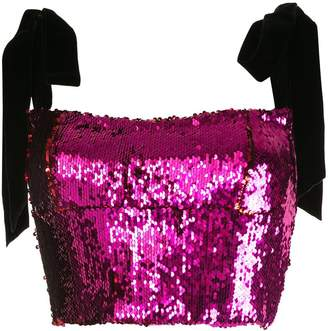 Rachel Gilbert Addie sequin crop top