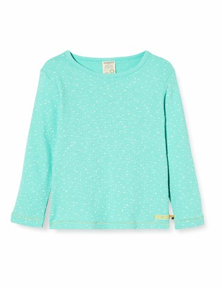loud + proud Girl's Shirt Waffle Knit Organic Cotton Long Sleeve Top