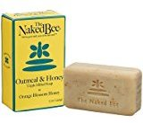 The Naked Bee Oatmeal & Honey Triple Milled Soap, 5 Ounce, Orange Blossom Honey by