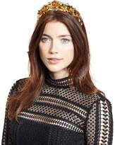 Jennifer Behr Magdalena Rose Crown Circlet, Crystal/Gold