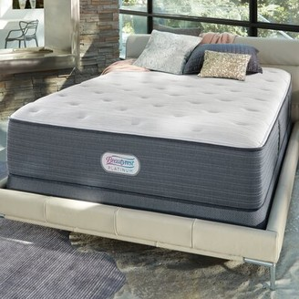 "Simmons Platinum 14"" Firm Innerspring Mattress and Box Spring Mattress Size: California King, Box Spring Height: Low Profile"