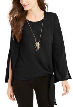 Thalia Sodi Tie-Side Split-Sleeve Top, Created for Macy's