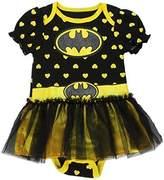 DC Comics Batgirl Infant Baby Girls Dress Up Tutu Creeper Onesie Bodysuit (6-9 mo, )